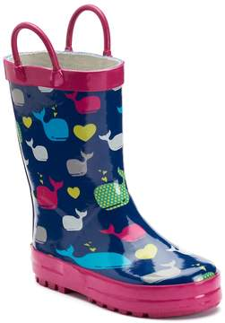 Western Chief Whales Girls' Waterproof Rain Boots