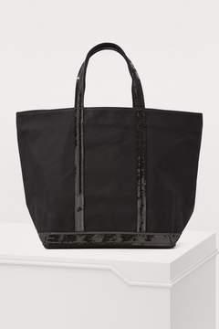 Vanessa Bruno Medium+ Sequined Canvas Tote Bag