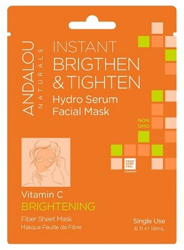 Andalou Naturals Instant Brighten & Tighten Hydro Serum Facial Mask - 1ct