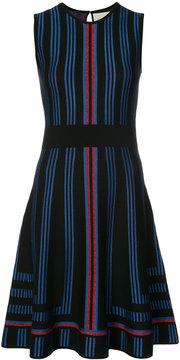 Carolina Herrera geometric intarsia lurex skater dress