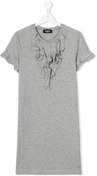 DSQUARED2 ruffled T-shirt dress