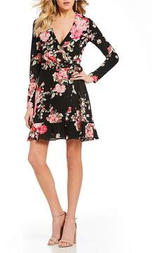 B. Darlin Floral-Print Wrap Dress