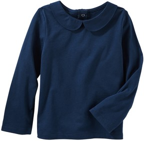 Osh Kosh Toddler Girl Navy Peter Pan Collar Top