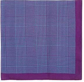 Barneys New York Men's Prince Of Wales Checked Silk Pocket Square
