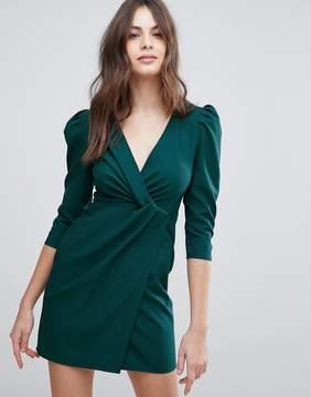 Asos Wrap Front Mini Dress