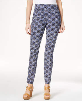 Charter Club Cambridge Medallion-Print Pull-On Pants, Created for Macy's