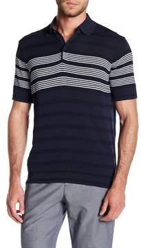 Perry Ellis Striped Knit Polo