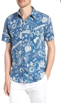 Faherty Coast Floral Sport Shirt