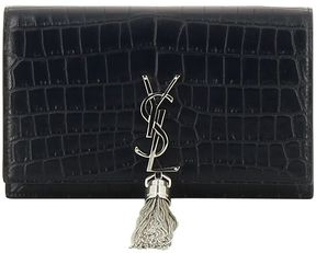 Saint Laurent Medium Kate Monogram Shoulder Bag - MEDIUM BLUE - STYLE