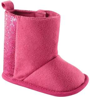 Luvable Friends Newborn Baby Girls Sparkle Boots