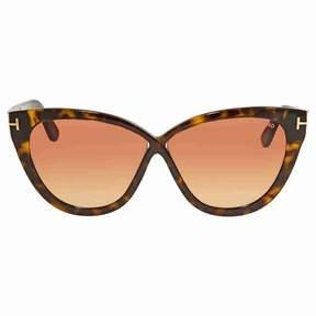 Tom Ford Arabella Pink Gradient Cat Eye Sunglasses FT0511 52B