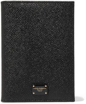 Dolce & Gabbana Textured-leather Passport Cover - Black - BLACK - STYLE
