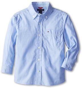 Tommy Hilfiger Kids - Vineyard End On End Shirt Boy's Long Sleeve Button Up