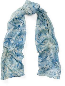 Ralph Lauren Rose-Print Cashmere-Silk Scarf