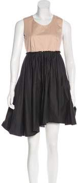 Cacharel Sleeveless Pleated Dress