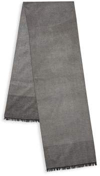 Saks Fifth Avenue Silk Herringbone Scarf