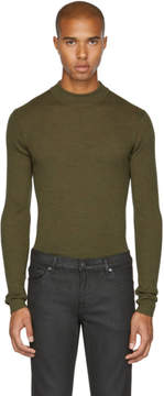 BLK DNM Green Skinny Rib 84 Sweater