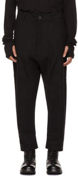 Isabel Benenato Black Dropped Trousers