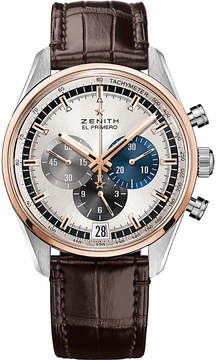 Zenith 51.2080.400/69.C494 El Primero stainless steel and rose-gold watch