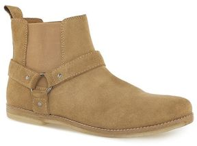 Topman Sand Suede 'Harness' Chelsea Boots