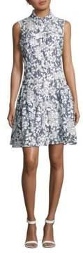 Betsey Johnson Burnout Printed Sleeveless Shirtdress