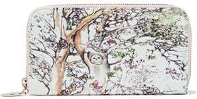 RED Valentino Printed Canvas Wallet