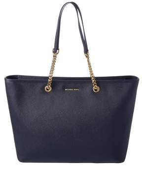 MICHAEL Michael Kors Jet Set Multifunction Leather Tote. - NAVY - STYLE