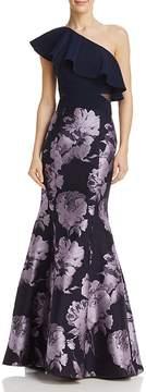 Aqua One-Shoulder Brocade Gown - 100% Exclusive