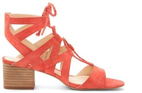 Sole Society Fauna Cutout Block Heel Sandal