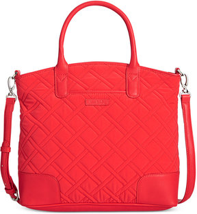 Vera Bradley Microfiber Trimmed Satchel - CANYON SUNSET WITH RED - STYLE