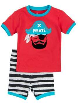 Petit Lem Little Boy's Two-Piece Sea Friends Pirate Pajama Tee & Shorts Set