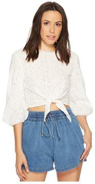 Bishop + Young Knit Back Embroidered Top Women's Clothing