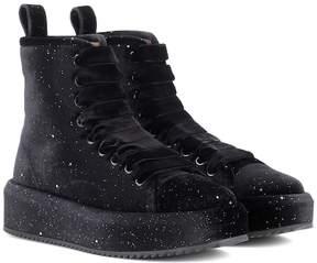 Marco De Vincenzo Velvet high-top sneakers