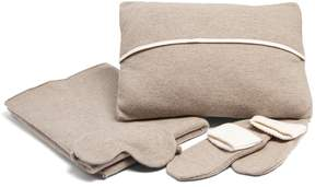 Allude Cashmere-knit travel set