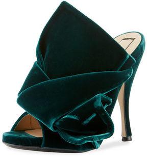 No.21 No. 21 Pleated Velvet Mule Sandal
