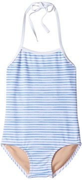 Toobydoo Blue Watercolor One-Piece Bathing Suit Girl's Swimsuits One Piece
