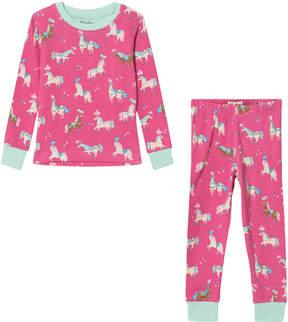 Hatley Pink Parade Horses Long Sleeve Pyjama Set