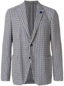 Lardini houndstooth buttoned blazer