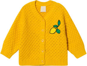 Mini Rodini Yellow Lemon Knitted Cardigan