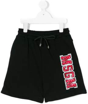 MSGM logo patch shorts