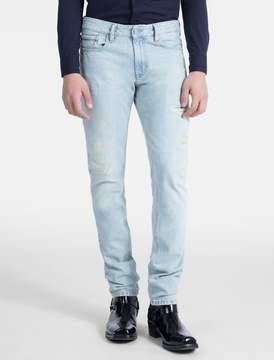 Calvin Klein slim straight stonewash jeans