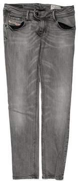 Diesel Nevy Low-Rise Straight-Leg Jeans