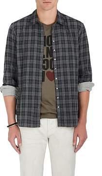 John Varvatos Men's Plaid Cotton Shirt