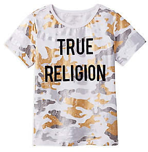 True Religion METALLIC CAMO TODDLER/LITTLE KIDS TEE
