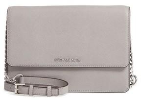 MICHAEL Michael Kors Large Daniela Leather Crossbody Bag - Grey
