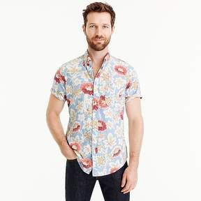 J.Crew Short-sleeve shirt in light blue floral print