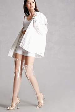 Forever 21 Clear Over-the-Knee Lucite Boots