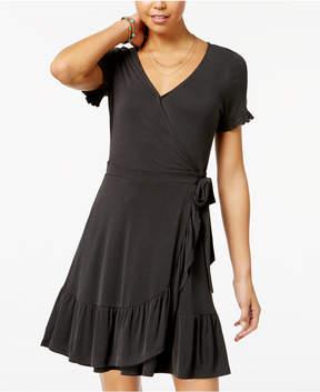 American Rag Juniors' Ruffled Wrap Dress, Created for Macy's