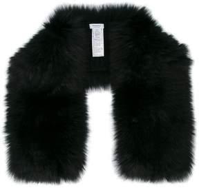 Inverni knitted fox fur scarf