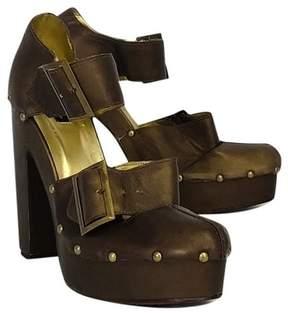 Nanette Lepore Bronze Platform Heels